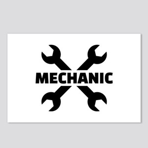 Crossed screw wrench mech Postcards (Package of 8)