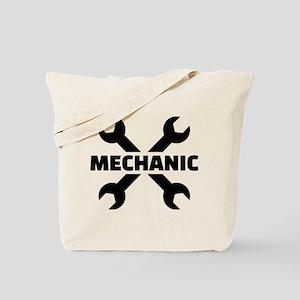 Crossed screw wrench mechanic Tote Bag