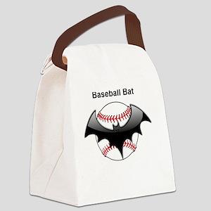 Halloween Baseball bat Canvas Lunch Bag