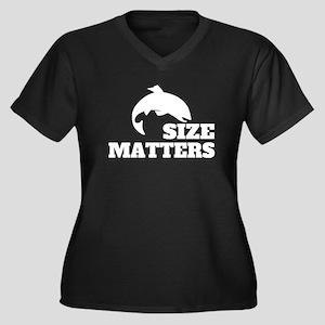Size Matters Fishing Plus Size T-Shirt