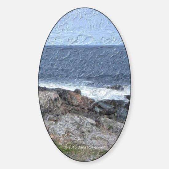 Rocks and Waves iPad Sticker (Oval)