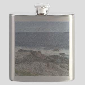 Rocks and Waves iPad Flask