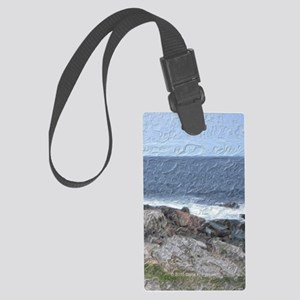 Rocks and Waves iPad Large Luggage Tag