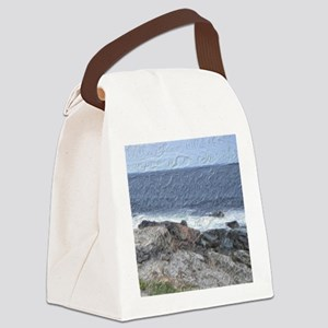Rocks and Waves iPad Canvas Lunch Bag