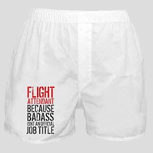 Badass Flight Attendant Boxer Shorts