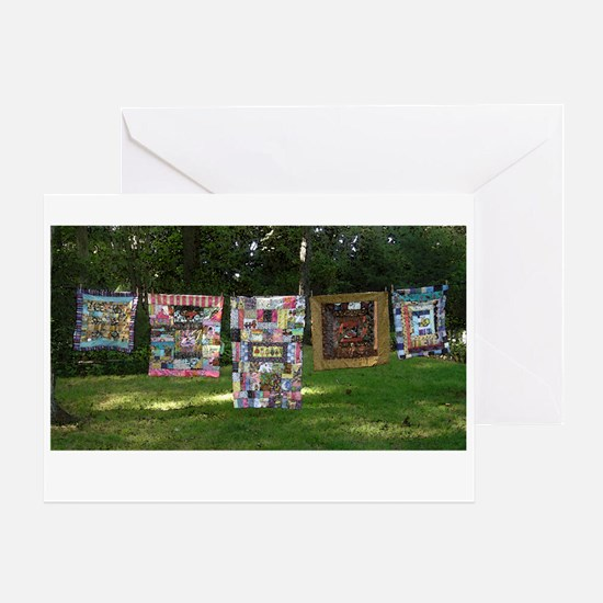 Funny Machine quilting Greeting Card