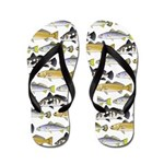 Seatrout and Drum Pattern Flip Flops
