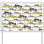 Seatrout and Drum Pattern Yard Sign