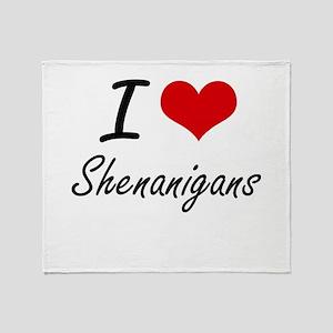 I Love Shenanigans Throw Blanket