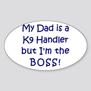 K9 Boss Oval Sticker