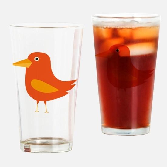 Cute Cartoons lovebirds Drinking Glass