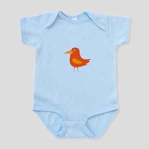 Orange Bird Body Suit
