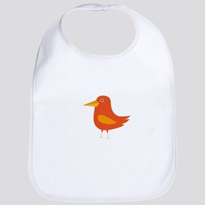 Orange Bird Bib