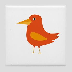 Orange Bird Tile Coaster
