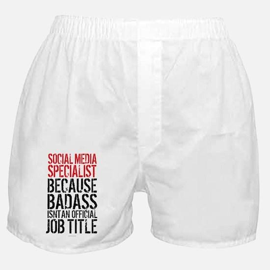 Social Media Badass Boxer Shorts
