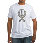 Camo Peace Ribbon Fitted T-Shirt