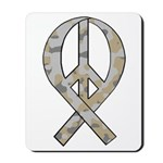 Camo Peace Ribbon Mousepad