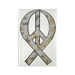 Camo Peace Ribbon Rectangle Magnet (100 pack)