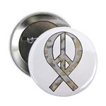 Camo Peace Ribbon Button
