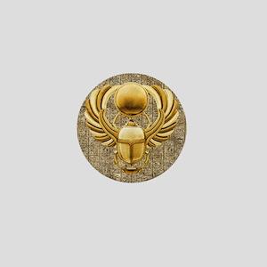Gold Egyptian Scarab Mini Button