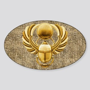 Gold Egyptian Scarab Sticker