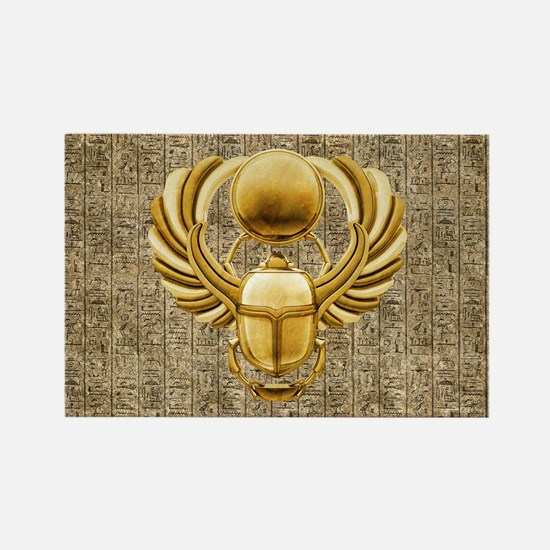 Gold Egyptian Scarab Magnets