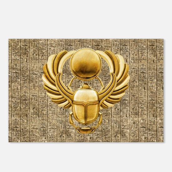 Gold Egyptian Scarab Postcards (Package of 8)