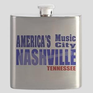 Nashville America's Music City-RWB Flask
