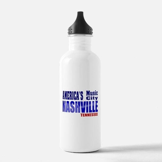 Nashville America's Music City-RWB Water Bottle