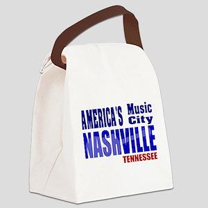 Nashville America's Music City-RWB Canvas Lunch Ba