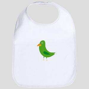 Green bird Bib