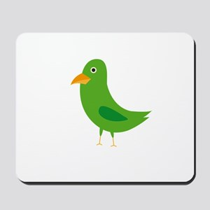 Green bird Mousepad