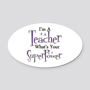 Super Teacher Oval Car Magnet