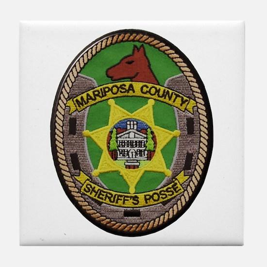 Mariposa Sheriff's Posse Tile Coaster