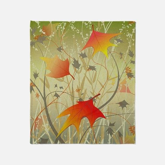 Funny Autumn Throw Blanket