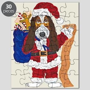 Basset Santa Checking List Of Good Bassets Puzzle