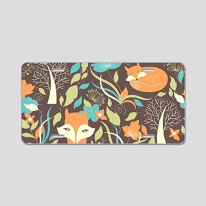 Woodland Fox Aluminum License Plate