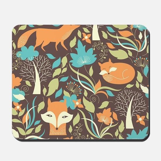 Woodland Fox Mousepad