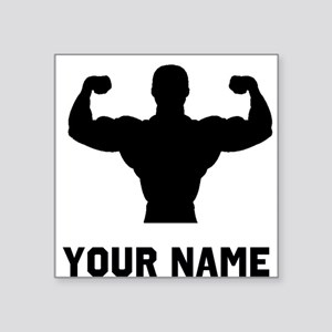 Bodybuilder Silhouette Sticker