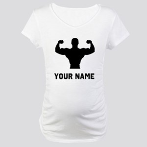 Bodybuilder Silhouette Maternity T-Shirt