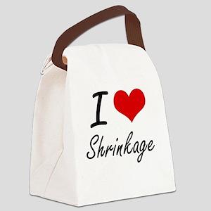 I Love Shrinkage Canvas Lunch Bag