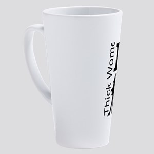 I Love Thick Women Big Trucks 17 oz Latte Mug