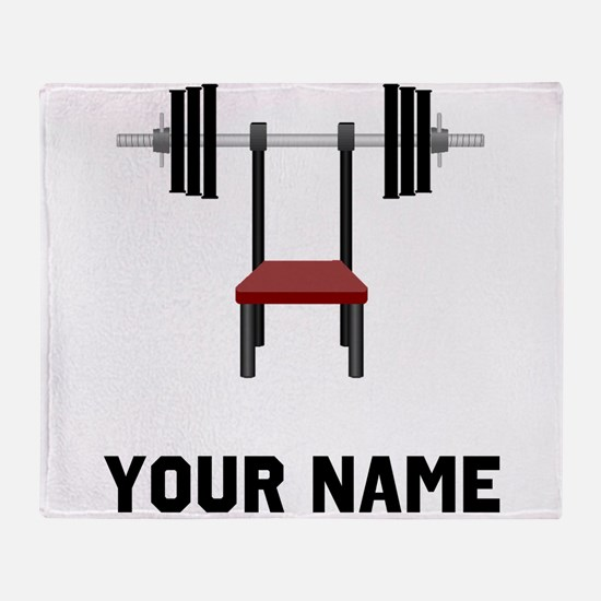 Weightlifting Bench Throw Blanket