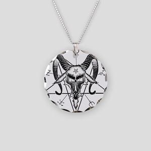 Baphomet Sigil Necklace Circle Charm