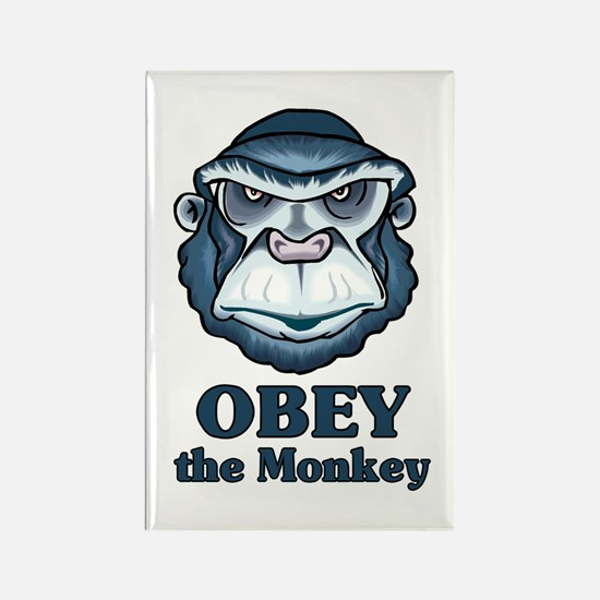 Obey the Monkey Rectangle Magnet