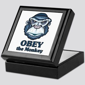 Obey the Monkey Keepsake Box