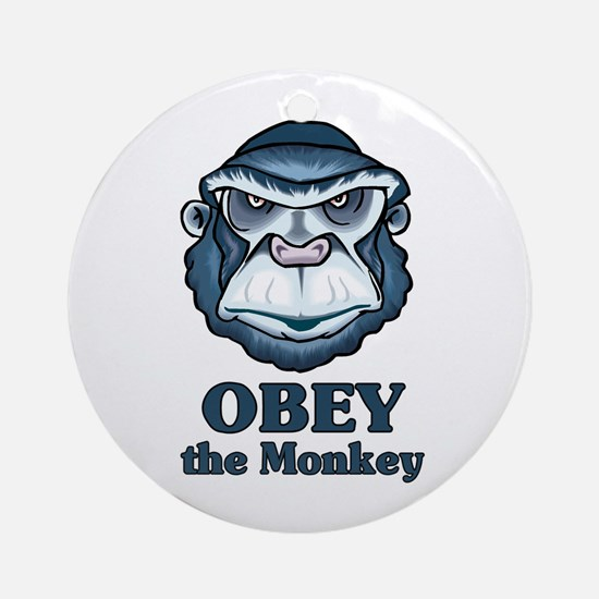 Obey the Monkey Ornament (Round)