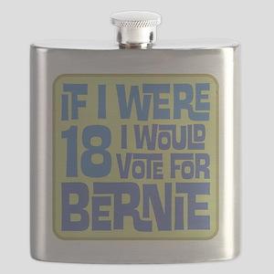 If I Were 18 I'd Vote for Bernie Flask