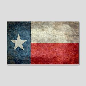 Texas state flag vintage retro  Car Magnet 20 x 12