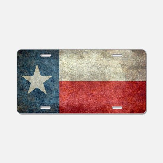 Texas state flag vintage re Aluminum License Plate